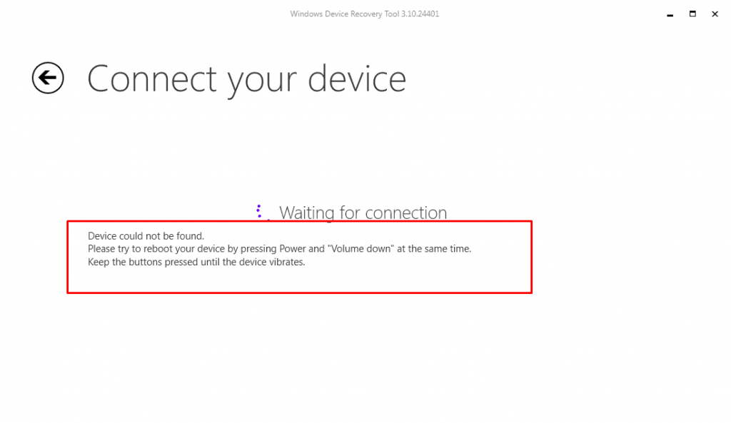 nokia recovery mode 1024x593 - Guide To Update Flash Microsoft Lumia and Nokia Lumia devices